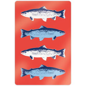 """Fly Fishing 18"""" X 12"""" Aluminum Room Sign - Fish Outline"""