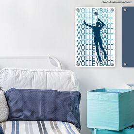 "Volleyball 18"" X 12"" Aluminum Room Sign - Fade"