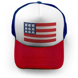 Volleyball Trucker Hat - Patriotic