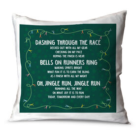 Running Throw Pillow Track Jingle Run