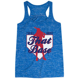 Softball Flowy Racerback Tank Top - I'm All About That Base