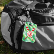 Crew Bag/Luggage Tag - Monogrammed Crossed Oars