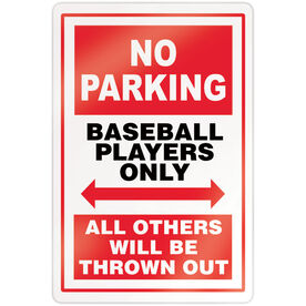 "Baseball 18"" X 12"" Aluminum Room Sign - No Parking Sign"