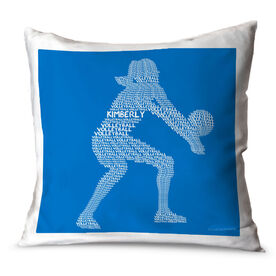 Volleyball Throw Pillow Personalized Volleyball Words