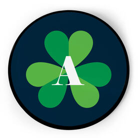 Personalized Circle Plaque - Shamrock With Initial