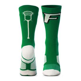 Custom Lacrosse Woven Mid-Calf Socks - Logo