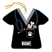 Personalized Ornament - Veterinarian Scrubs