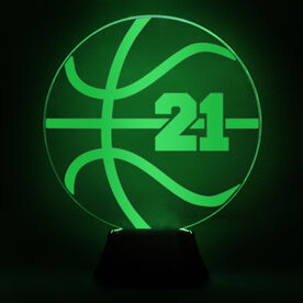 Basketball Acrylic LED Lamp Ball With Number