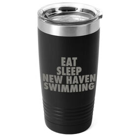 Swimming 20 oz. Double Insulated Tumbler - Personalized Eat Sleep Swimming