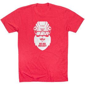 Hockey Short Sleeve T-Shirt - Ho Ho Santa Face