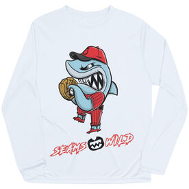 Seams Wild Baseball Long Sleeve Tech Tee - Rojo Chomp