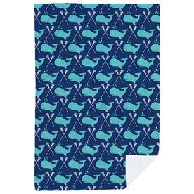 Girls Lacrosse Premium Blanket - Lax Whale