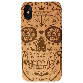 Engraved Wood IPhone® Case - Day Of The Dead Skull