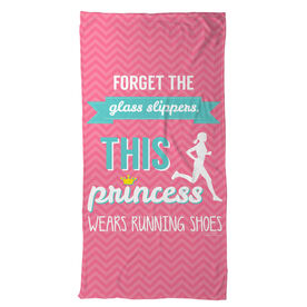 Running Beach Towel Forget the Glass Slippers This Princess Wears Running Shoes