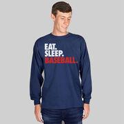 Baseball T-Shirt Long Sleeve Eat. Sleep. Baseball.