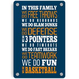 Basketball Metal Wall Art Panel - We Do Basketball