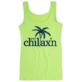 Girls Lacrosse Women's Athletic Tank Top Just Chillax'n