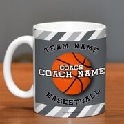 Basketball Coffee Mug Personalized Coach with Ball