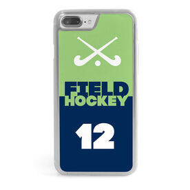 Field Hockey iPhone® Case - Personalized Sticks Color Block