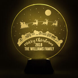 Acrylic LED Lamp - Santa Clause is Coming To Town
