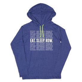 Men's Crew Lightweight Hoodie - Eat Sleep Row