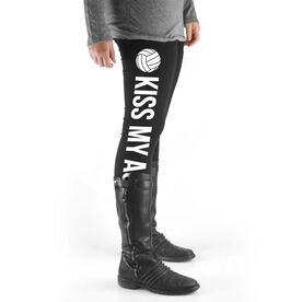 Volleyball High Print Leggings - Kiss My Ace