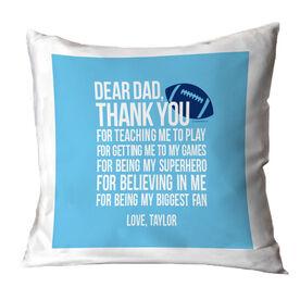 Football Pillow Dear Dad