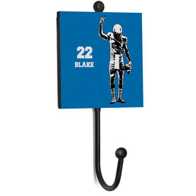 Football Medal Hook - Silhouette With Name And Number