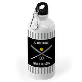Softball 20 oz. Stainless Steel Water Bottle - Team With Bats