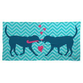 Field Hockey Beach Towel Dog Love