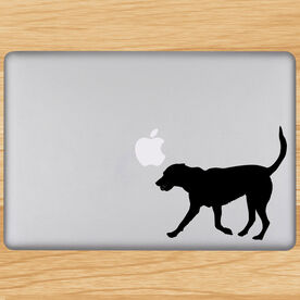 Tennis Dog Removable ChalkTalkGraphix Laptop Decal
