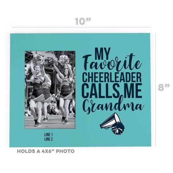 Cheerleading Photo Frame - Grandma's Favorite Cheerleader