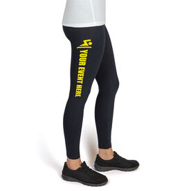 Swim High Print Leggings Your Event Name