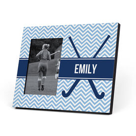 Field Hockey Photo Frame - Field Hockey Sticks with Chevron Pattern