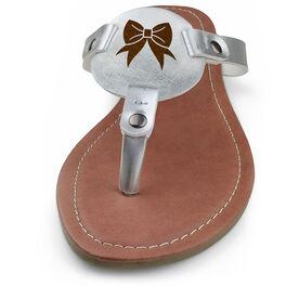 Cheerleading Engraved Thong Sandal - Bow
