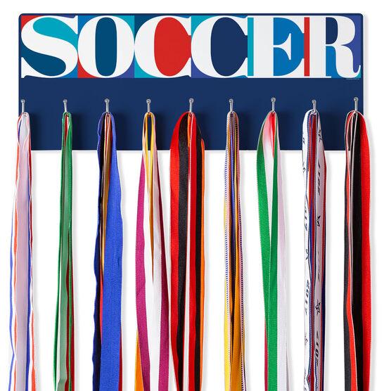 Soccer Hooked on Medals Hanger - Soccer Mosaic