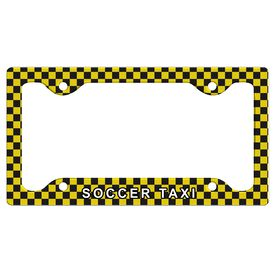 Soccer Taxi License Plate Holder