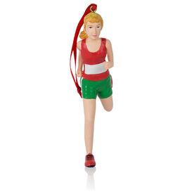Running Ornament - Runner Girl Figure