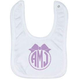 Personalized Baby Bib - Monogram with Bow