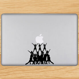Cheer Pyramid Removable ChalkTalkGraphix Laptop Decal