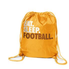Football Sport Pack Cinch Sack Eat. Sleep. Football.