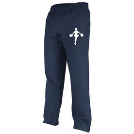 Cheerleading Fleece Sweatpants Cheerleader Silhouette