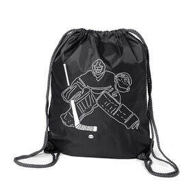 Hockey Sport Pack Cinch Sack - Hockey Goalie Sketch