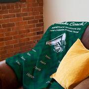 Cheerleading Premium Blanket - Personalized Thanks Coach Chevron