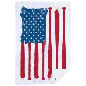 Softball Premium Blanket - American Flag