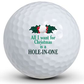 Christmas Hole in One Golf Balls