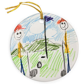 Golf Porcelain Ornament Your Drawing