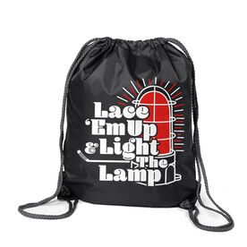 Hockey Sport Pack Cinch Sack - Lace 'Em Up And Light The Lamp