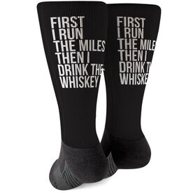 Running Printed Mid-Calf Socks - Then I Drink The Whiskey