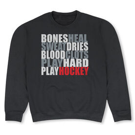 Hockey Crew Neck Sweatshirt - Bones Saying